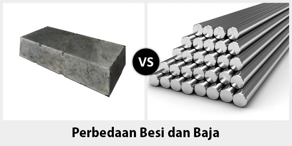 Perbedaan Antara Besi dan Baja